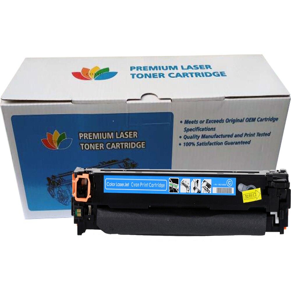 Cartouche de Toner Compatible COAAP CF540A 203A pour HP Color LaserJet Pro M254dw 254nw MFP M281cdw 281fdw 280nw (avec puce) - 4