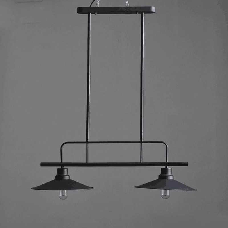 Подвесные лампы Ретро черный металлический подвесной светильник Лофт промышленный подвесной светильник для кабинета, бара магазин подвесного освещения G107