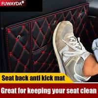 Freies verschiffen!! Auto Sitz Zurück Schutz Abdeckung Anti Kick Matte Für MG MG3 MG6 ZS HS Auto-Anti-Schmutz-Pad    -