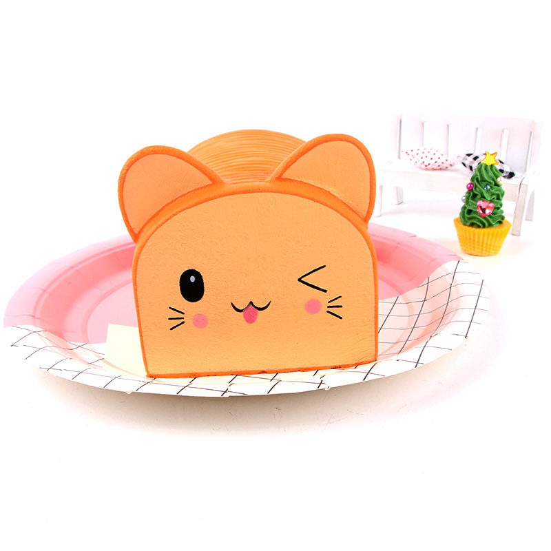 13CM Kawaii Cartoon Cat Bread Squishy Soft Simulation Charm Slow Rising Kids Doll Toys Squeeze Fun Gift Office Props Decoration