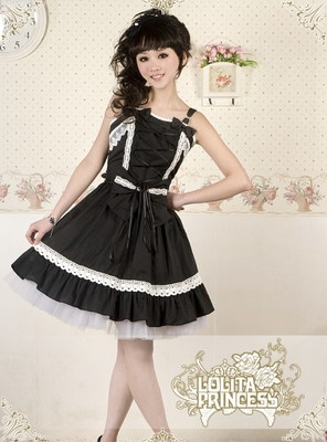 My Fetish Store LL38 Long Sleeveless Sweet Lolita Short Dress Ball Gown Fancy Prom Dress Halloween Party Masquerade Costume
