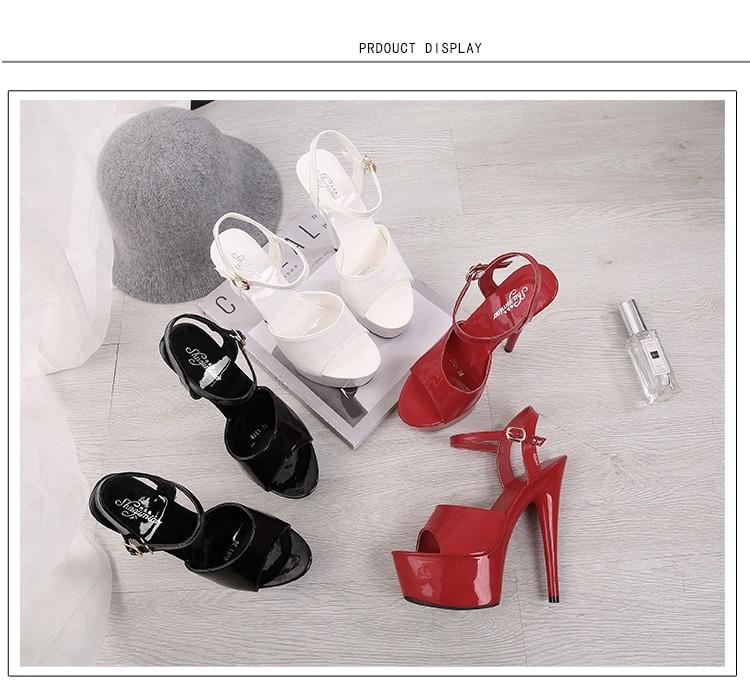 HTB1eIC0a2vsK1RjSspdq6AZepXaJ Sandals Shoes Woman Clear Heels Platform 2019 Beach Sexy Sandals Wedding Shoes Steel Tube Dancing Girl Stripper Shoes Open Toe