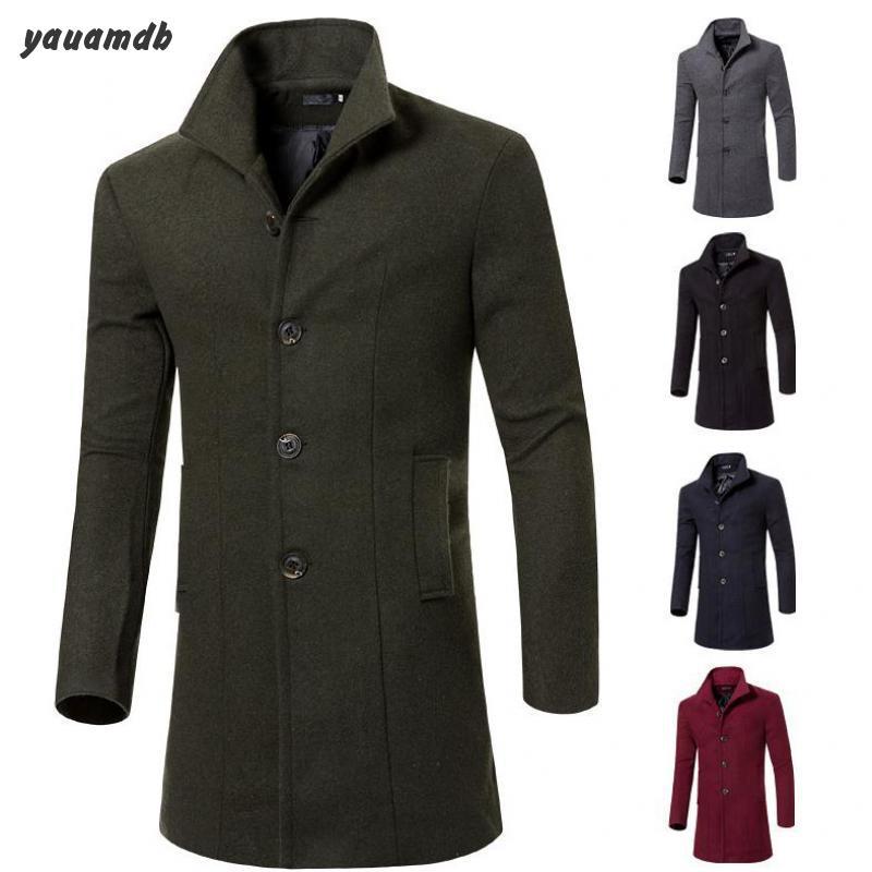 men down parka winter/autumn man outerwear coat cotton turn-down collar jackets wool warm casual Long parka y73