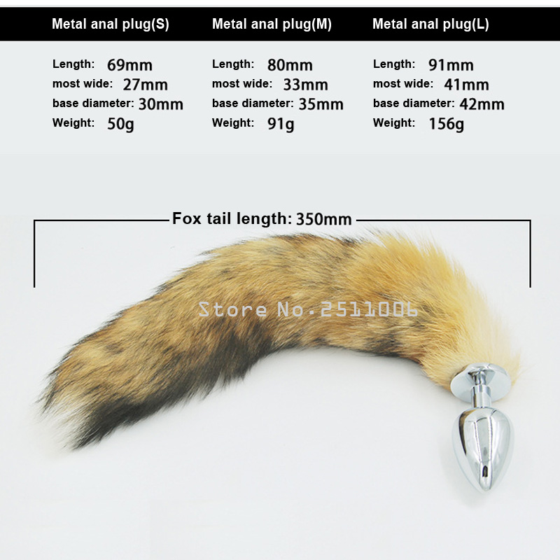 9169f1a4185 White Anal plug Faux fox tail Stainless steel butt plug cat tail cosplay  anal sex toys metal butt plug dog tail for women-in Anal Sex Toys from  Beauty ...