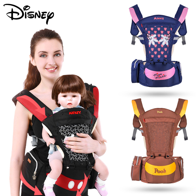 Disney Accessories Baby Hip Seat Multifunctional Front Facing Baby Sling Backpack Pouch Wrap mochila ergonomica bebe