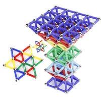 60 Pcs Magnet Stick Toy Bars Metal Balls Magnetic Building Blocks Construction Toys Children DIY Designer