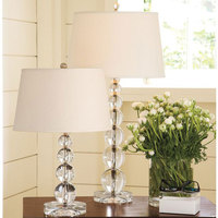 30x56cm Crystal Ball Table Lamp for Bedroom Bedside Living Room Hotel Engineering Light Five Ball Transparent Crystal Table Lamp