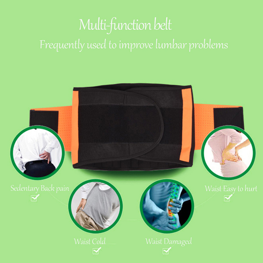 Elastic Waist Belt Back Lumbar spine Brace Support Medical ABS Cartilage For Back Pain Lumbar disc Herniation support correction breathable medical waist support wrap brace belt lumbar disc herniation psoatic strain stainless steel rod