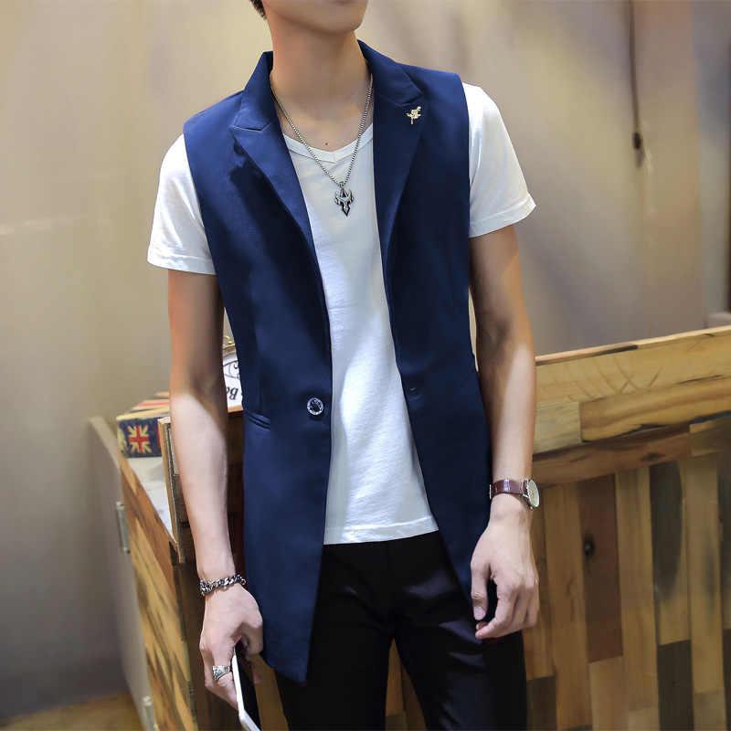 821c7b186c8 Men suits dress vest men slim sleeveless coat men fashion casual ...