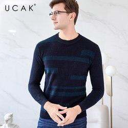 UCAK Brand Merino Wollen Trui Mannen Kleding 2019 Nieuwe Aankomst Herfst Winter Kasjmier Trui Mannen Truien O-hals Pull Homme U3032