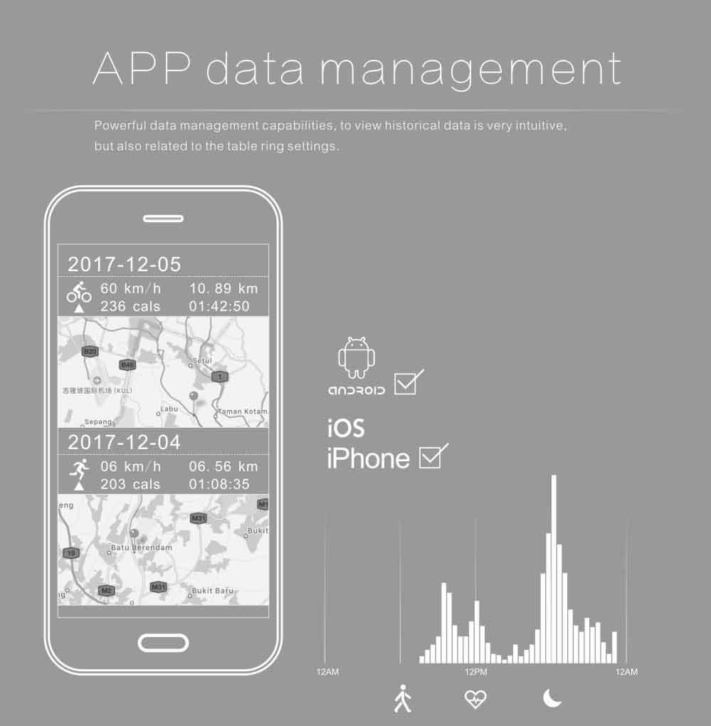 LEMDIOE Heart Rate Smart Wristband GPS Track Record Smart Band 2 Sleep Pedometer Bracelet Fitness Tracker Smart Watch Relogio 13