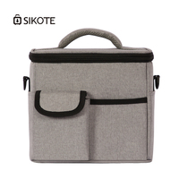 SIKOTE Thickened Lunch Bag 900D Oxford Bags Multi functional Compartment Lunch Pack Insulation Bag for Women Men Aluminum Foil