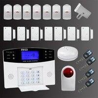 GSM Alarm C Set Door Bell Warning Device LCD Wireless Home Office Security Thief Alarm Smoke Alarm with Wireless Outdoor Siren