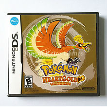Nintendo NDS Игры Pokemon Heartgold Видеоигры Картридж Консоли Карта США Версия На Английском Языке