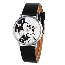 Лидер продаж Мода милый мультфильм кварцевые Наручные детские кожаные часы Малыш для женщин и девочек relojes