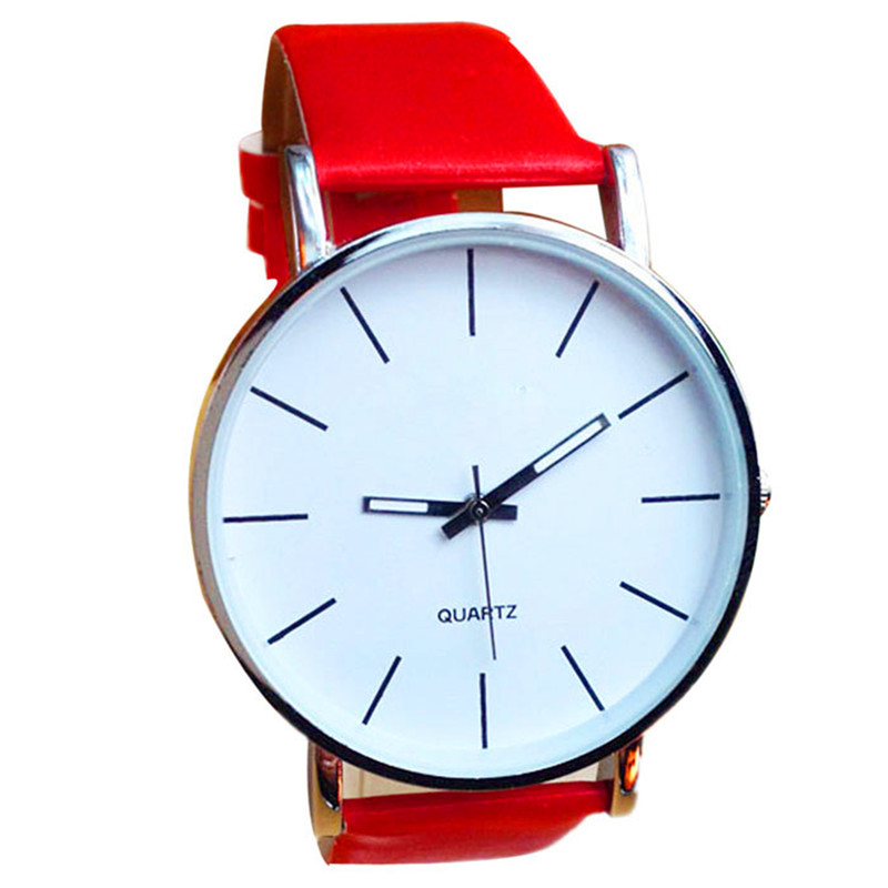 women watchesfemale maleHot Fashion Women Lady Leather B Sport Analog Quartz Wrist Watch relogio Reloj clock P*21