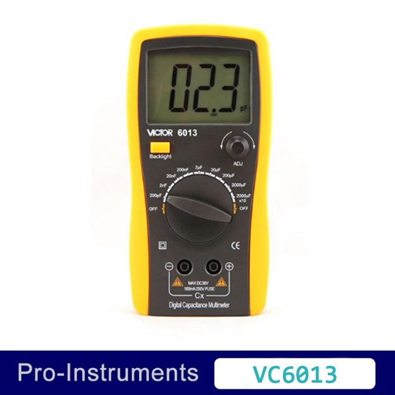Victor VC6013 Inductance CAPACITANCE LCR Meter Digital Multimeter Resistance Meter professional victor inductance capacitance lcr meter digital multimeter resistance meter vc6013