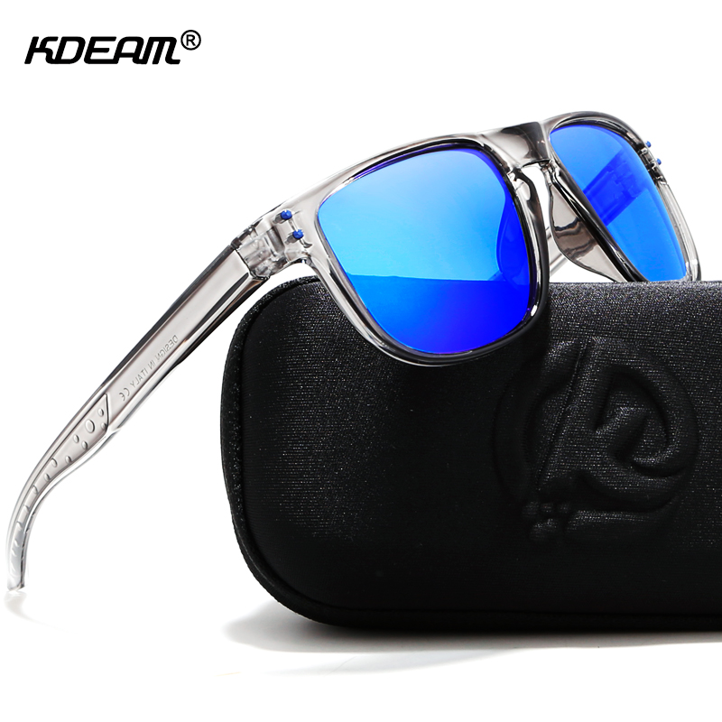 KDEAM Durable Lightweight Polarized Sunglasses All-fit Size Sun Glasses Men Coating Lens Minimize Glare Hard Case Included