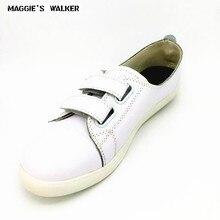 Maggie's Walker/Женская обувь из натуральной кожи; повседневная обувь на плоской подошве с острым носком; Женская прогулочная обувь; Размеры 35-40
