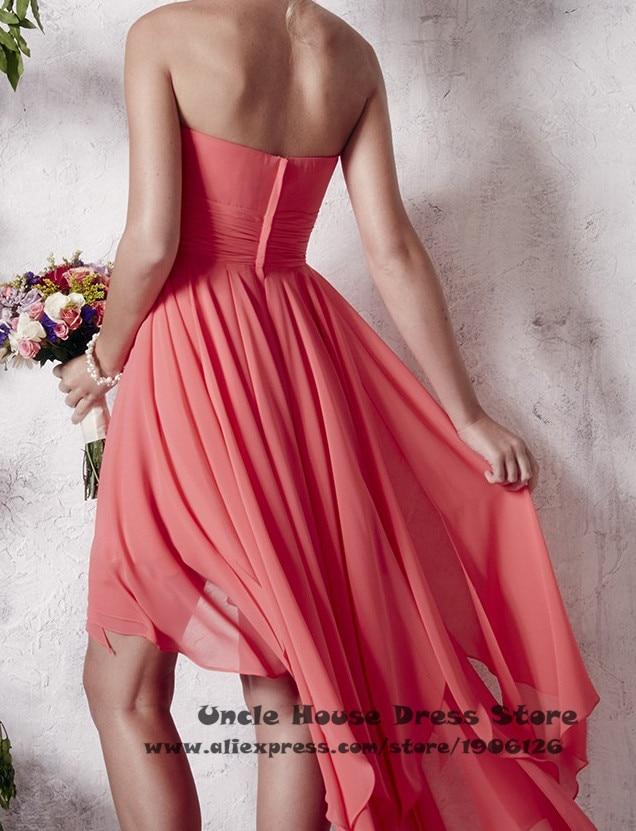 Atractivo Alto Bajo Vestido De Novia Festooning - Ideas para el ...