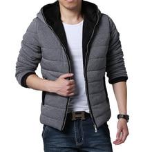 New 2016 Winter Jacket Men Brand High Quality Down Cotton Men Clothes Warm Jacket Coats Black Plus Size Free shipping