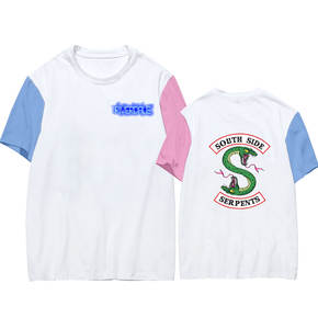 Fashion Tops South-Side T-Shirts Short-Sleeve Color-Clothes O-Neck Serpents-Series Riverdale