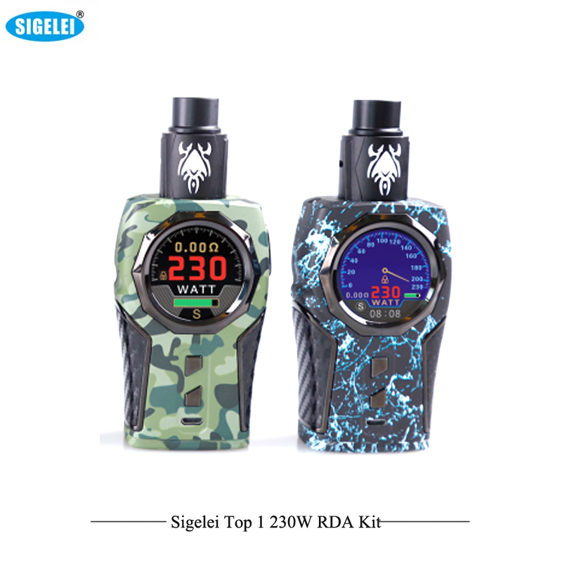 Здесь продается  Original Electronic Cigarettes Sigelei Top1 RDA Kit 230W Temperature control Box Mod E Cigarettes Support Ti/Ni/SS316 Coil Wire  Бытовая электроника