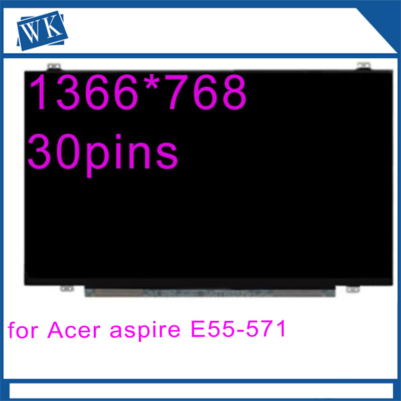 15.6 Laptop LCD Screen Display For Acer Aspire E5 571 Slim LED 30pins 1366*768