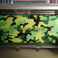 Large Elite Green Jungle Camo Vinyl Wrap Film Bubble Free For Car Styling