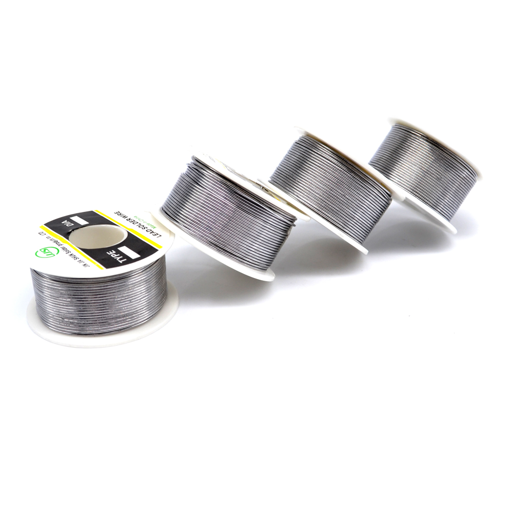 100g 1mm Soldering Wire 60/40 Flux 2% Tin Lead Rosin Core Solder Wire Welding Iron Reel Roll(China)