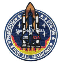 "3.5 ""Armageddon Movie Vrijheid STS-98 X-71 Geborduurde Naai Iron On Patch Applique Dropship Groothandel(China)"