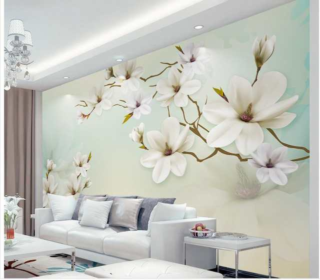 Custom 3d Wallpaper Simple And Elegant Magnolia Background