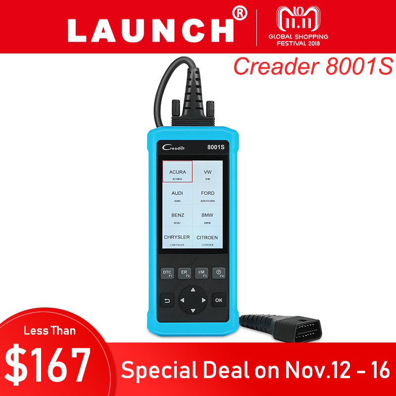 Launch Creader 8001S Professional OBD2 Auto Code Reader Scanner Car Diagnostic Tool Full OBDII 4 System Oil Reset EPB SAS BMS car obd2 obdii oil inspection service reset tool