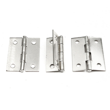 MTSPACE Durable 10pcs/Set Stainless Steel Butt Hinges for Cabinet Drawer Door 1.5 Inch Length Widely Used for Door Furniture