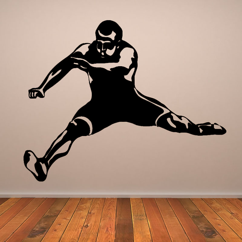 Top Selling Sports Wall Decal Vinyl Removable Home Decor Hurdle Player Wall Sticker Living Room