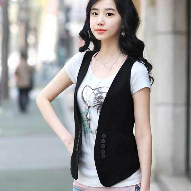 MS spring new Korean all-match slim suit vest vest / small vest vest size dress female