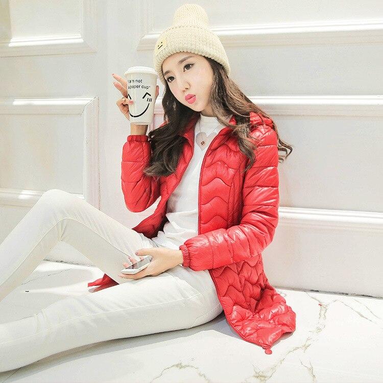Papaya süt uzun kapşonlu pamuk yastıklı ceket boyutu Kore kız öğrenci sonbahar ve kış ceket ince