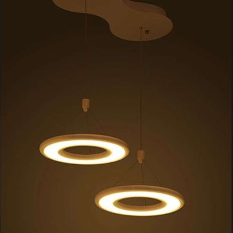 LED Pendant lamp creative modern simple Ring light LED hollow round dining room restaurant study bar Pendant Lights FG188