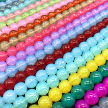 6/8/10mm 50/30/20pcs/lot Beads material Translucent Jelly beads Fits for Handmade DIY Necklace Jewelry Making