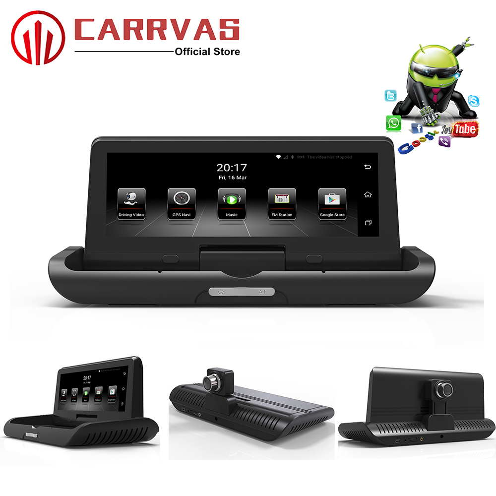 CARRVAS GPS DVR for Car 7 84 Inch Android 5 0 DVR Navigator with 4G Network