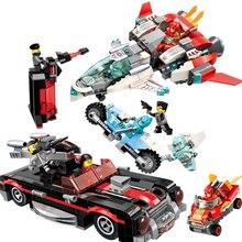 Super hero Series Red Racing Car Aircraft Building Blocks Bricks sets Model Kid Toy Marvel Compatible Ideas Ninja Movie