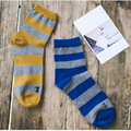 Listras largas homens meias outono inverno meias casuais meias de algodão respirável homens