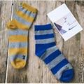 Rayas anchas hombres calcetines otoño e invierno calcetines deportivos calcetines calcetines de algodón transpirable hombres