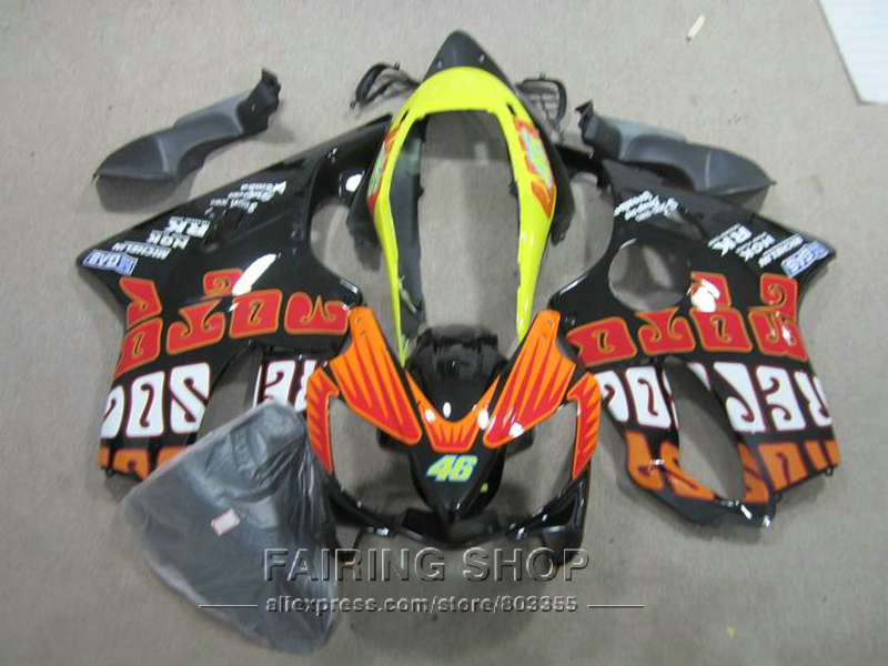Cbr600 f4i 04 2004 05 2005 fairings bodykit for honda  ( yellow orange sticker ) fairing kit cbr 600f