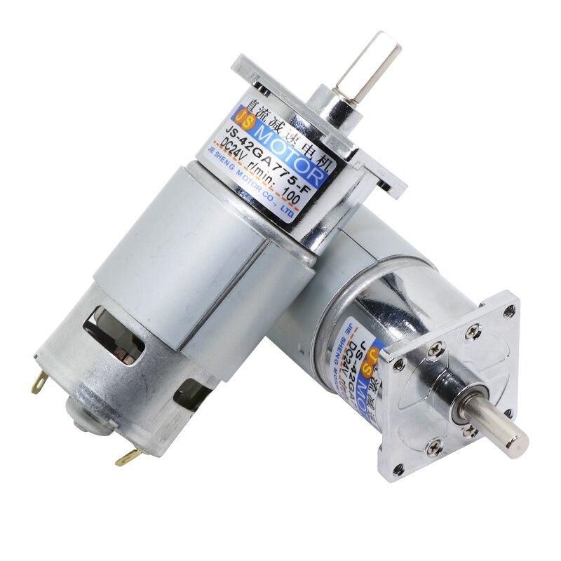 1 шт. 42GA775 DC мотор редуктор 12 V/24 V высокое Мощность двигатель с высоким крутящим моментом, можно регулировать скорость и направление управлен