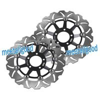 Motorcycle Fornt Brake Disc Rotors For KAWASAKI ZXR400/750/R750 & NINJA ZX9R & ZEPHYR/ZRX/ZZR 1100 & ZRX S/R 1200 Pair Black