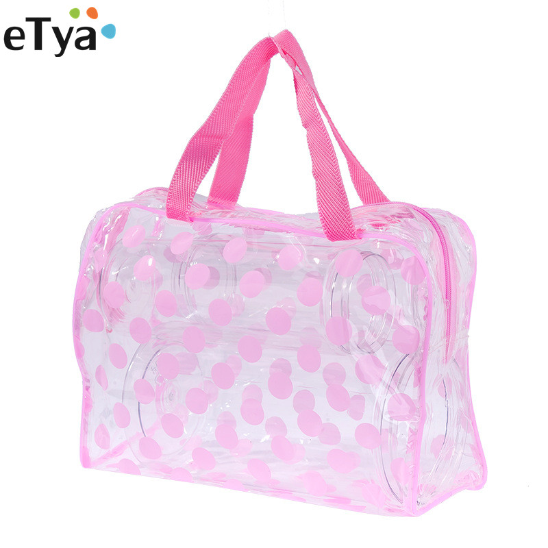 ETya  2019 PVC Clear Travel Accessories Packing Organizers Bags Dot Sanitary Sock Wash Underwear Cosmetic Toiletries Bag Pouch