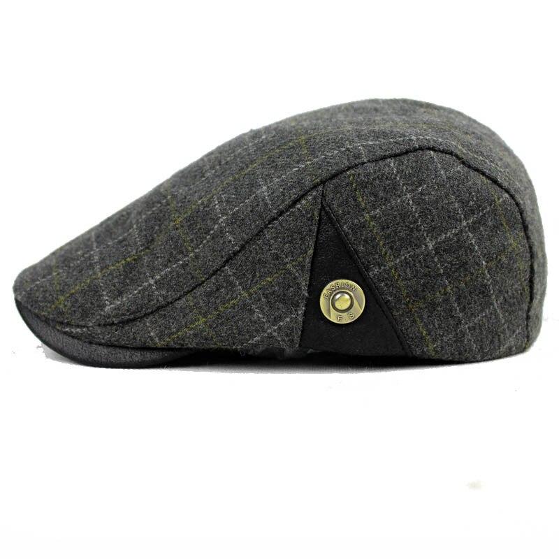 Dt591 moda chapéu de feltro de lã cap jornaleiro gatsby hera chapéu de lã  homens Driving Plano Cabbie plana chapéu Boinas de Inverno Homens Chapéus  Gorras ... c8308459498