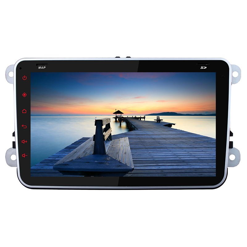 1024 600 Android 4 4 Quad Core Car Radio Audio DVD GPS F Volkswagen VW Skoda