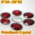 Siam Forma Oval Crystal Fancy Stone Point Volver Cristal de Piedra Para La Joyería de DIY Accessory.10 * 14mm 13*18mm 18*25mm 20*30mm